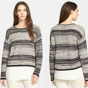 Eileen Fisher Linen/Wool Blend Sweater
